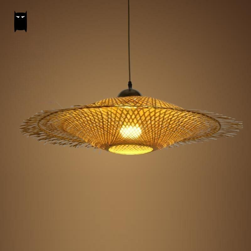 asian pendant lighting. bamboo wicker rattan cap shade pendant light fixture asian hanging ceiling lamp soleilchat lighting