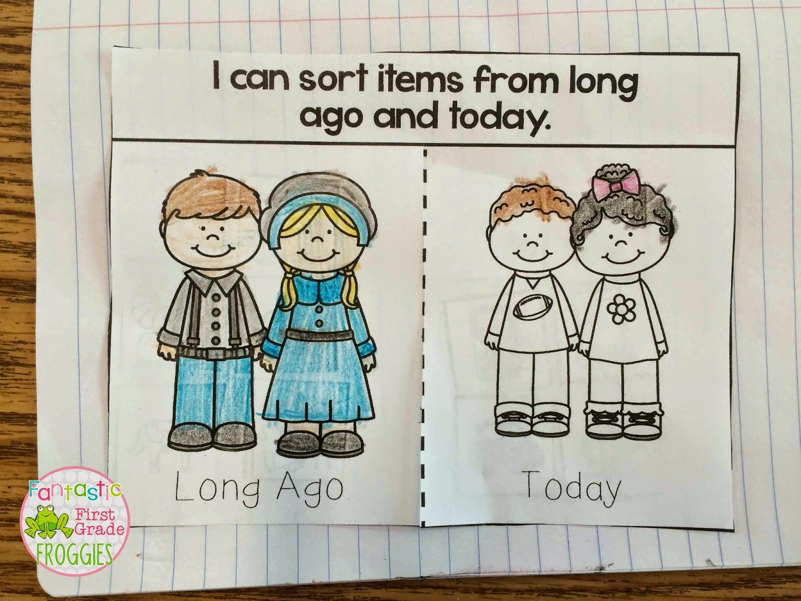 Long Ago And Today Sort An Interactive Notebook Freebie