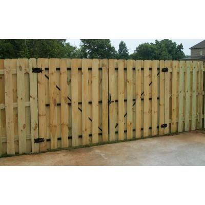 Dura Gate 12 Ft Double Fence Gate Frame Kit 007 1403 The Home Depot Backyard Fences Modern Fence Fence Landscaping