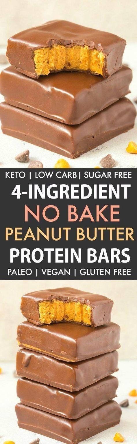 Erdnussbutterfreie Proteinriegel Mit 4 Zutaten Paleo Vegan Keto Zuckerfrei Peanut Butter Protein Bars Low Carb Bars Protein Bars Homemade