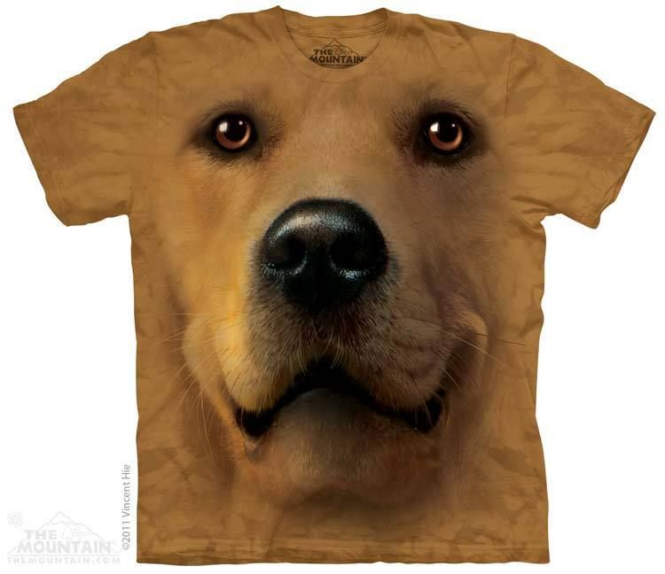 7a6f0b2b68 Buy Golden Face T-Shirt (XXL) at Mighty Ape NZ. If you love dogs then this t -shirt is perfect for you. After just one wash you will not know where the  print ...