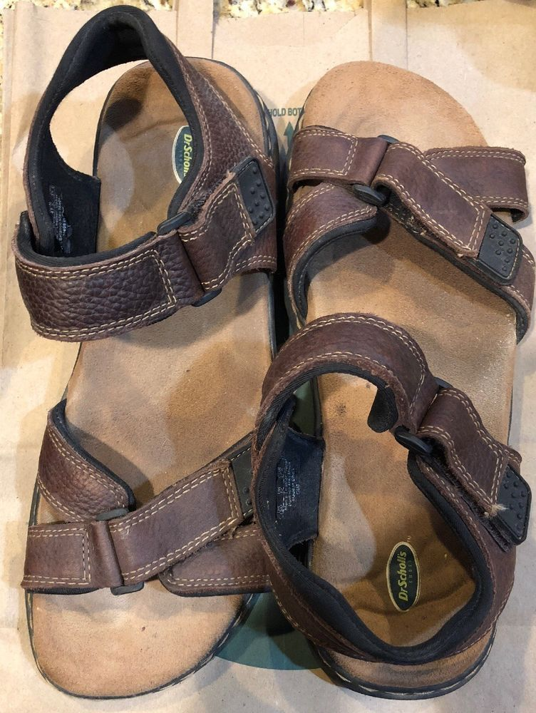 b5166cdf0233 Dr Scholls Leather Sandals Lightly Used Velcro Straps On Front And Ankle  Comfrot  fashion  clothing  shoes  accessories  mensshoes  sandals (ebay  link)