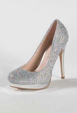 f8bf476fc95 High Heel Sparkle Pump with Stones and Platform from Camille La Vie ...