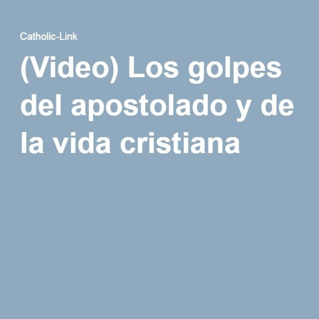 (Video) Los golpes del apostolado y de la vida cristiana