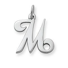Script Initial Charm In 2019 James Avery Initial Charm