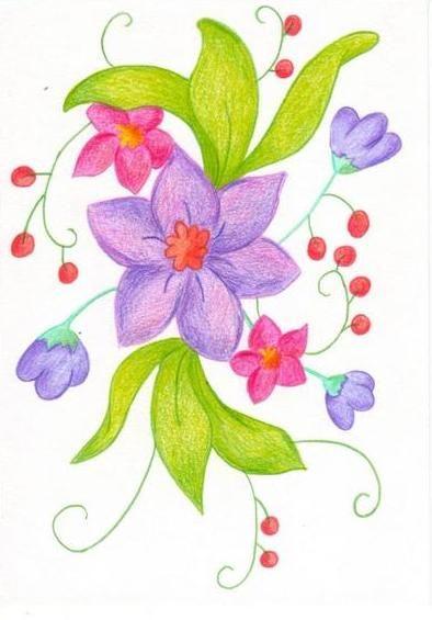 Dessin En Couleurs à Imprimer Nature Fleurs Numéro 11806