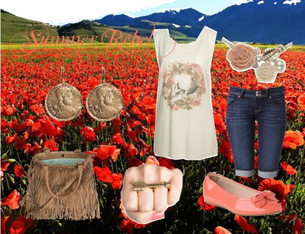 """""""summer rebel"""" by barnsonsarianne on Polyvore"""