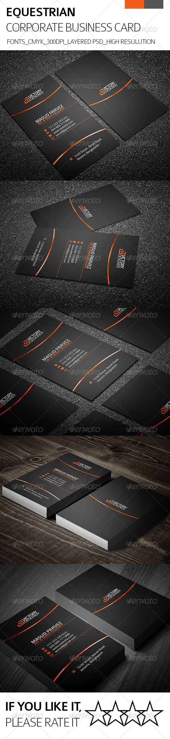 Equestrian & Corporate Business Card   Corporate business, Business ...