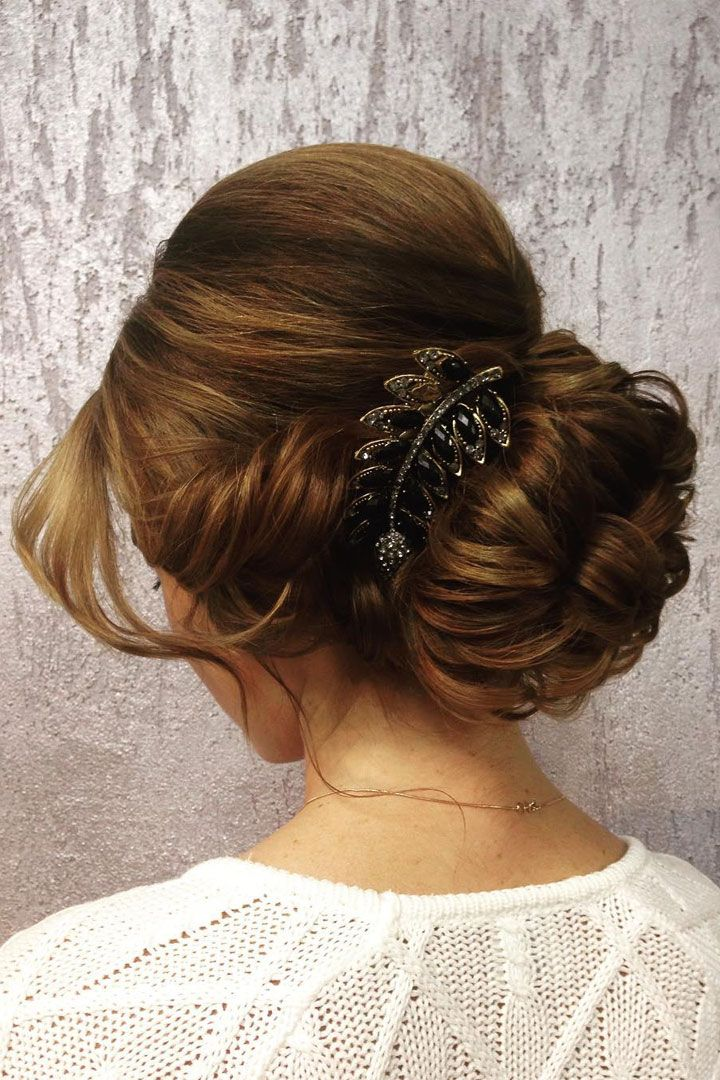 Beautiful updo wedding hairstyle inspiration #weddinghair #hairstyle #hairideas #bridalhair #frenchchignon #messyupdo #braids #braidupdo #braided #updohairstyles
