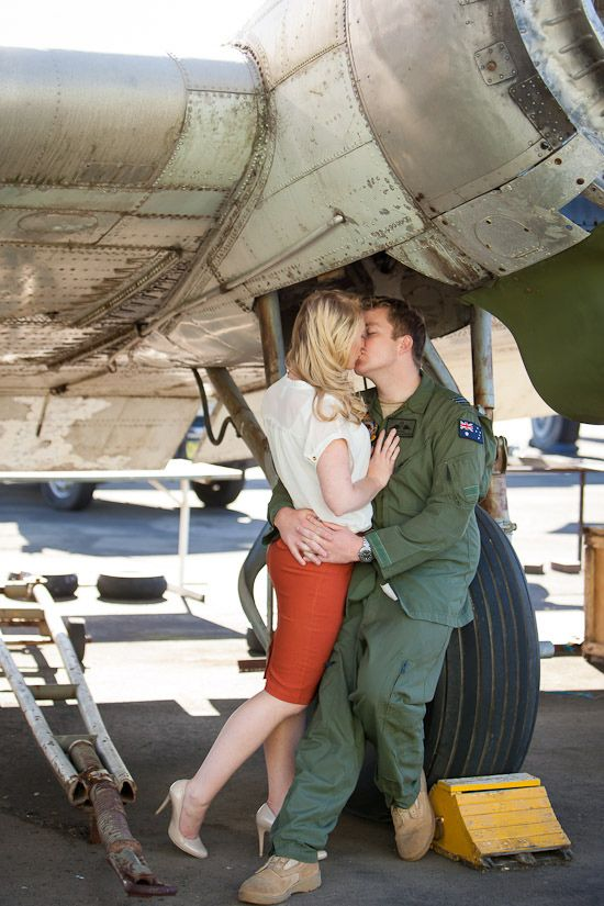 Cyndall and Ben\'s Vintage Airforce Inspired Engagement | Pinterest ...