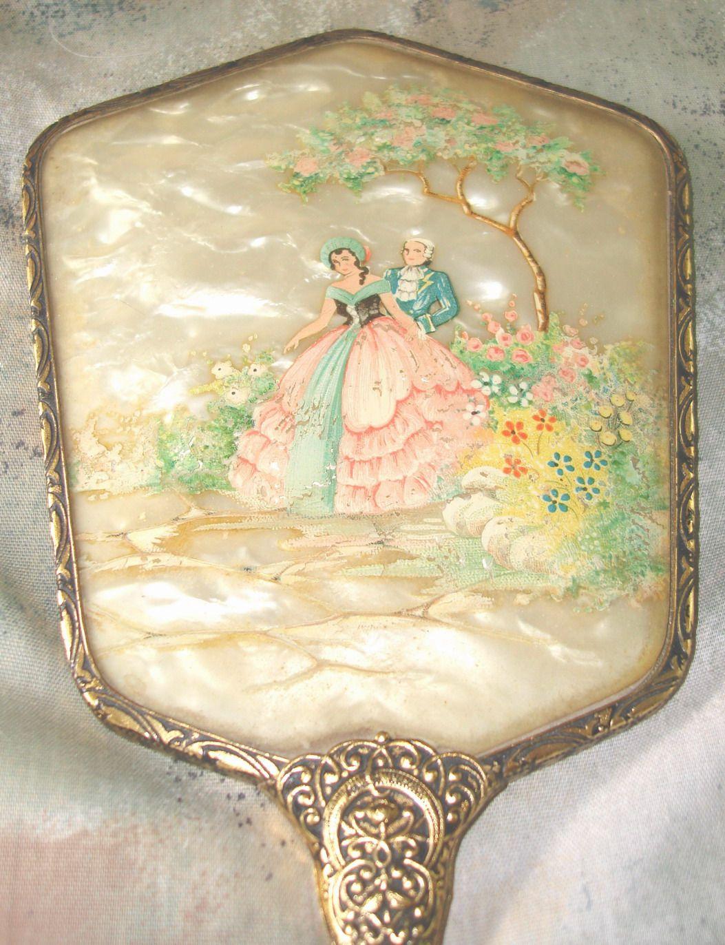 vintage dma tinkrgems mirrors antique vanity powder makeup best glass jar mirror tray the