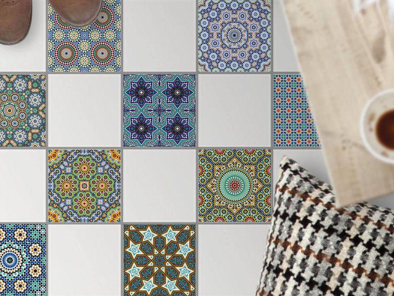 Fliesenaufkleber Fur Den Boden Design Orientalisches Mosaik