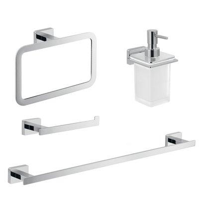 Orren Ellis Linntown 4 Piece Bathroom Hardware Set Bathroom Accessories Sets Bathroom Accessories Bathroom Hardware