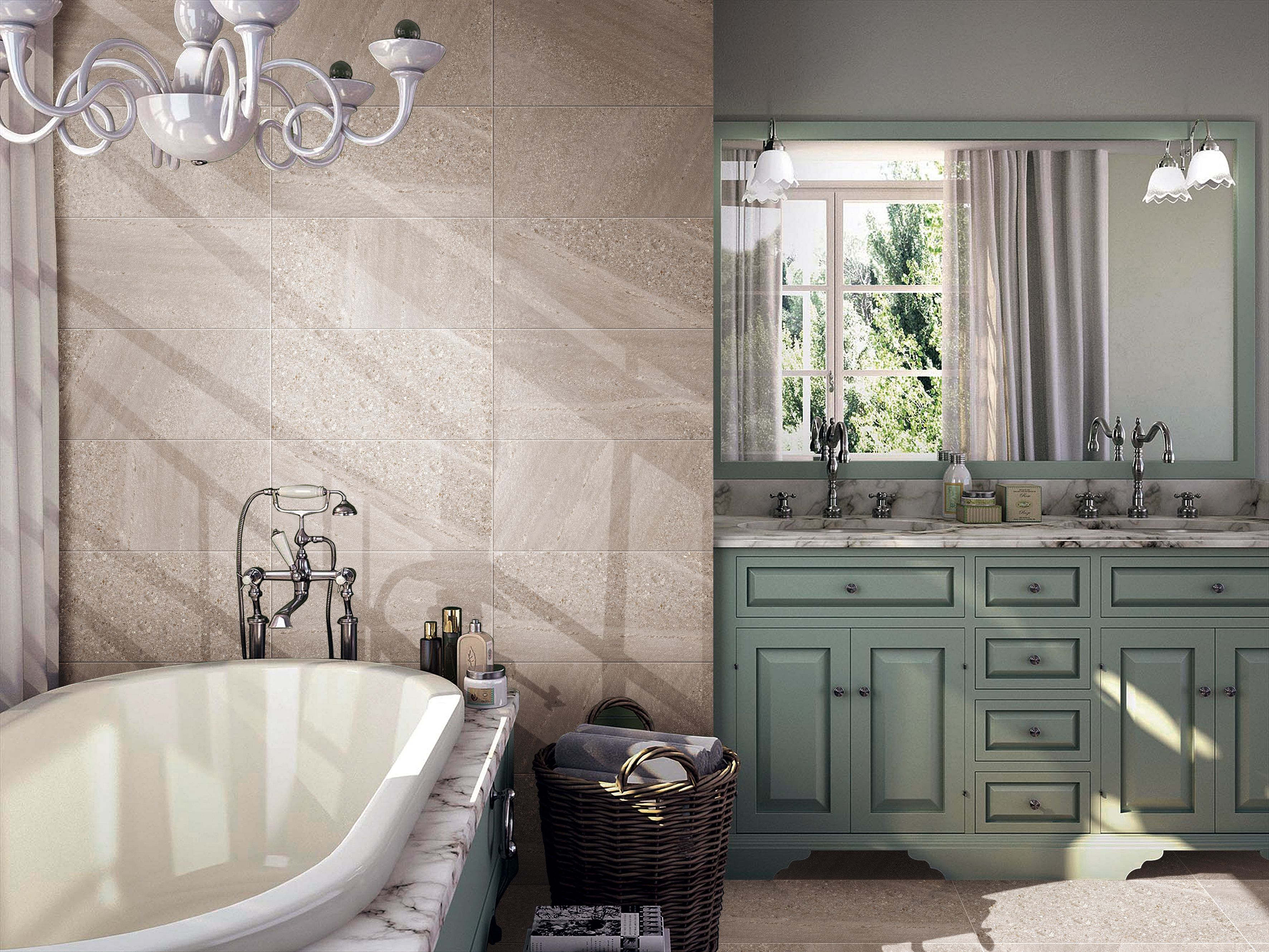 bathroom wall and floor using balance gray gray on wall tile id=77526