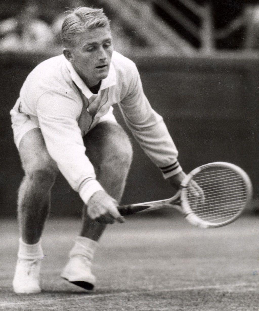 Lew Hoad Australian 1954 Davis Cup Match at the Kooyong Lawn