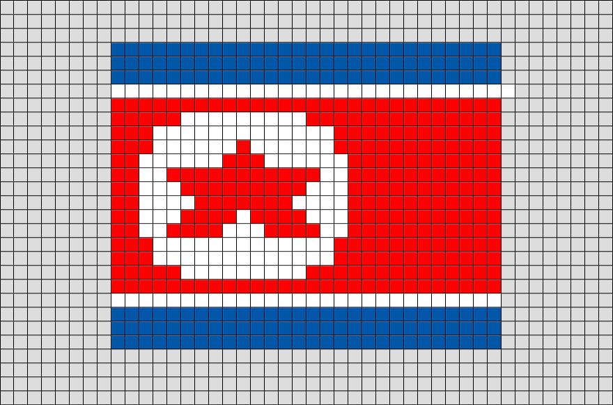 Flag Of North Korea Pixel Art Pixel Art Drapeau Et Pays Asie