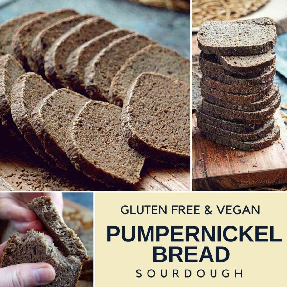 Gluten Free Sourdough Pumpernickel Bread Recipe Vegan Recipe In 2020 With Images Gluten Free Sugar Free Gluten Free Sourdough Gluten Free Recipes Bread