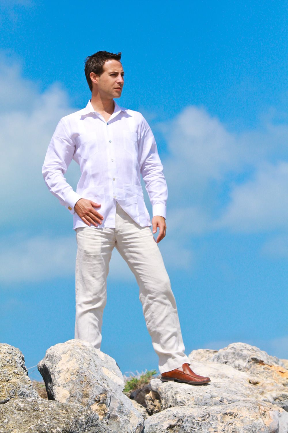 Beach Wedding attire for groom - 102 | JK Guayaberas | Guayaberas ...