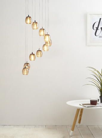 Over dining room adjustable £100 aisha cluster light