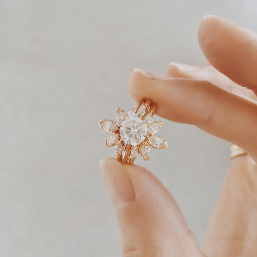 Diamond stacks | new diamond marquise sun ring, now available online