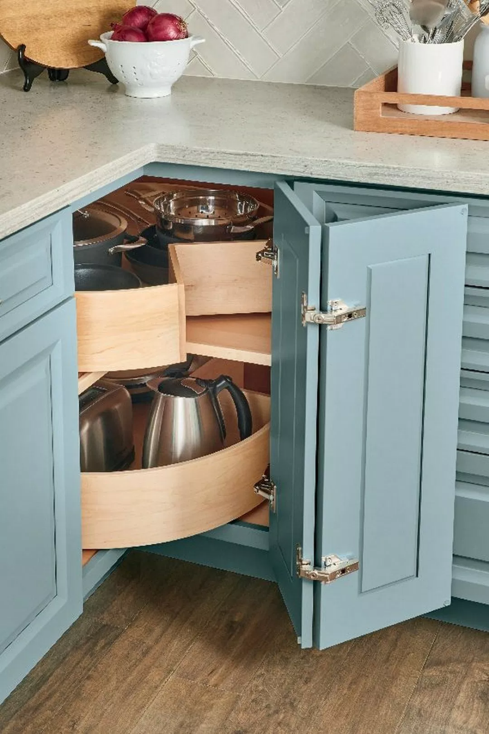 45 Gorgeous Corner Cabinet Storage Ideas For Your Kitchen Corner Storage Cabinet Corner Kitchen Cabinet Kitchen Cabinet Storage