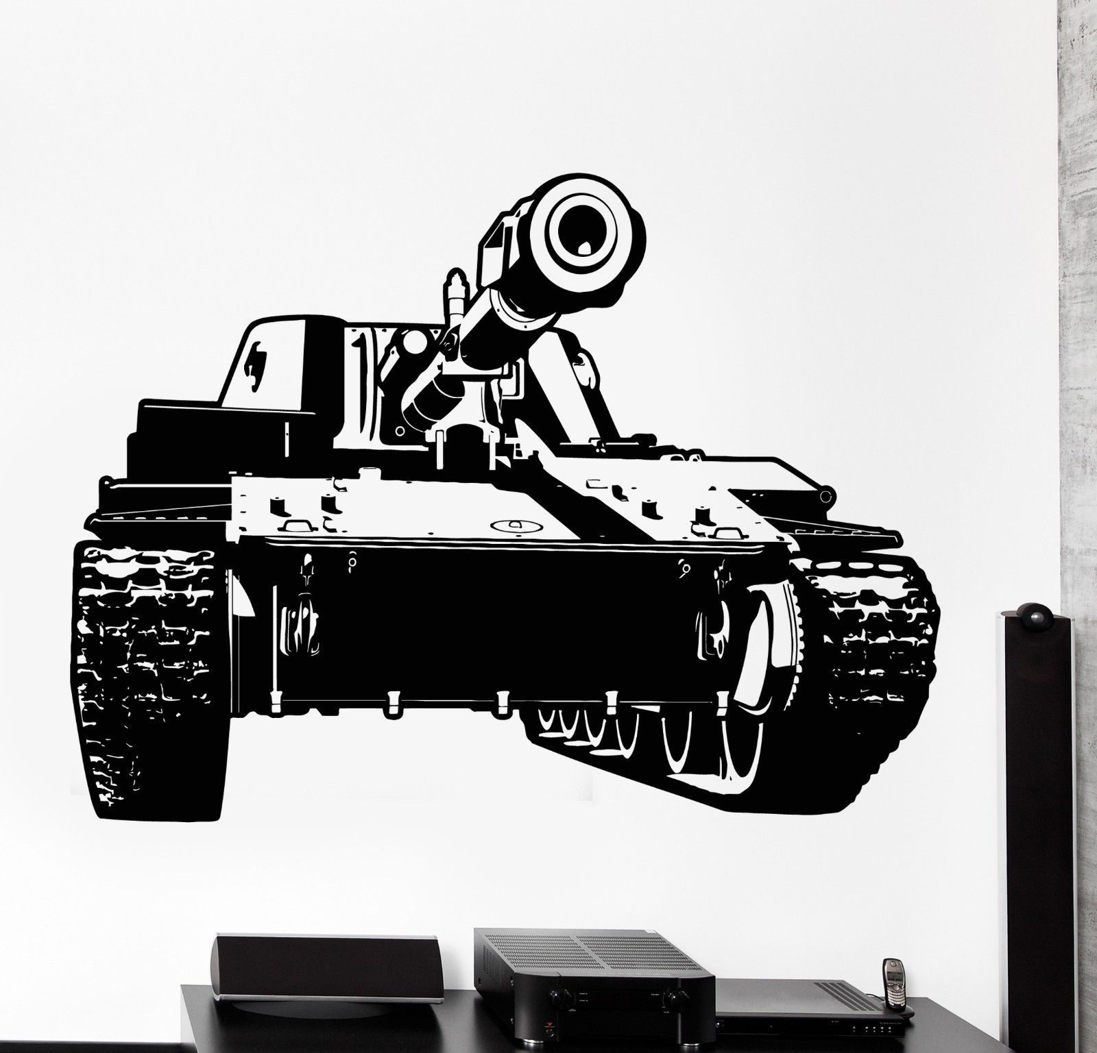 Wall Vinyl Tank Military War Army Cool Decal Z3419 Army Tanks Tanks Military Vinyl Wall [ 1537 x 1600 Pixel ]