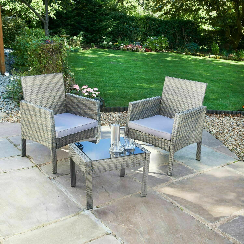 bistro set 3pc garden furniture