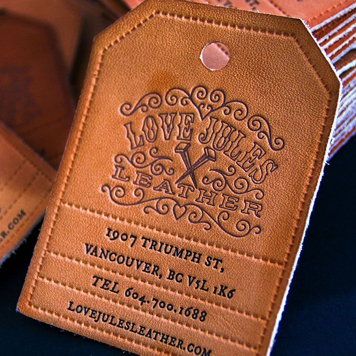 Leather Business Cards with Letterpress Printing | Print Design ...