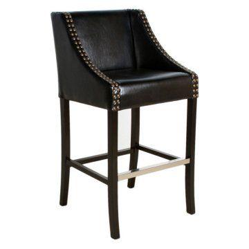 Black Studded Leather Bar Stool Www Hayneedle Com Leather Bar Stools Bar Stools Leather Bar Black leather bar stool