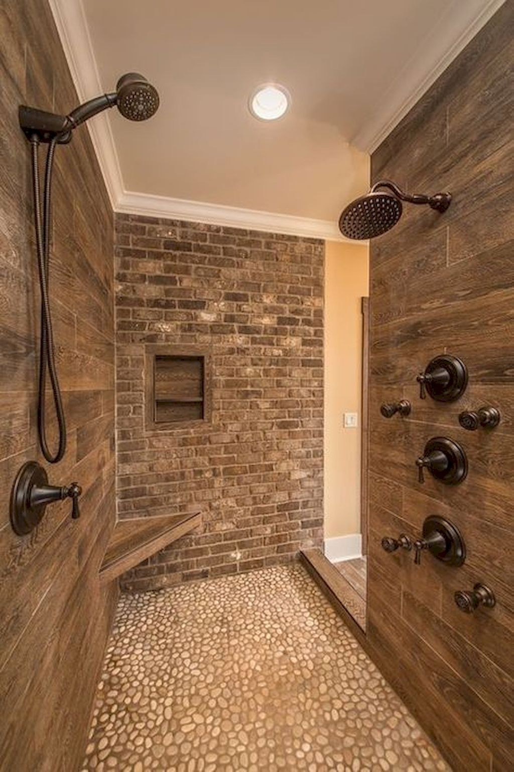 Adorable 80 Best Farmhouse Tile Shower Ideas Remodel Https Roomadness Com 2018 01 30 80 Craftsman Bathroom Bathroom Remodel Master Farmhouse Master Bathroom