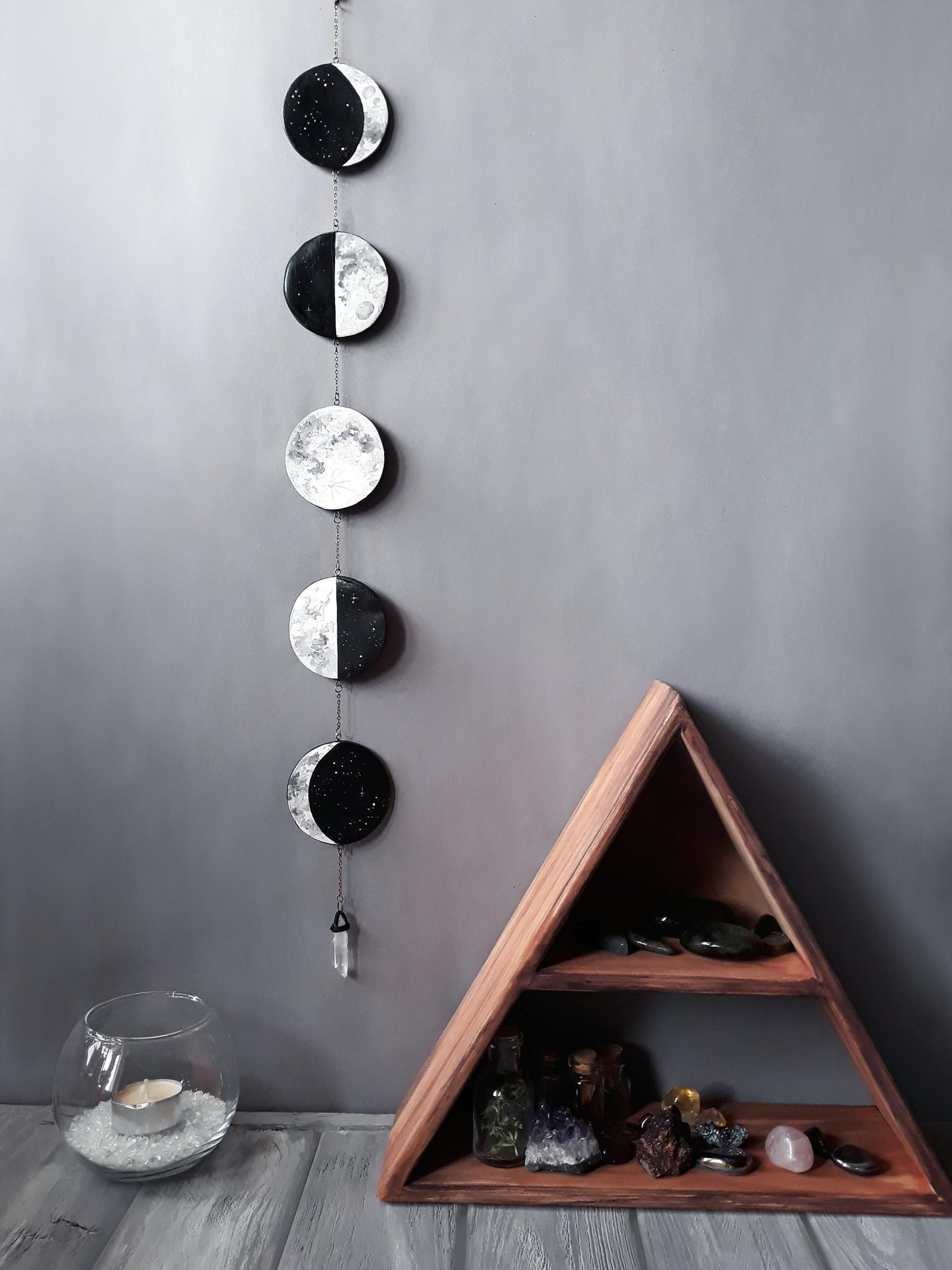 Wall Hanging Moon Garland Lunar Phases