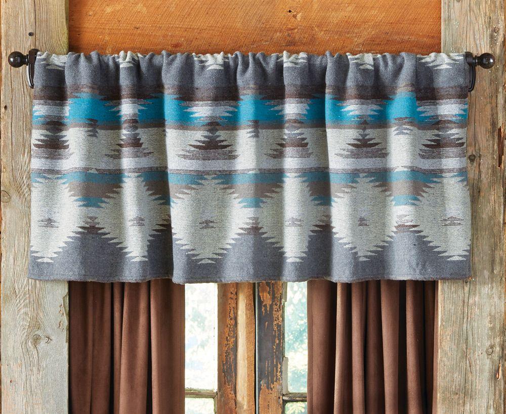 Arroyo Southwestern Valance Southwestern Curtains Southwestern Valances Western Curtains