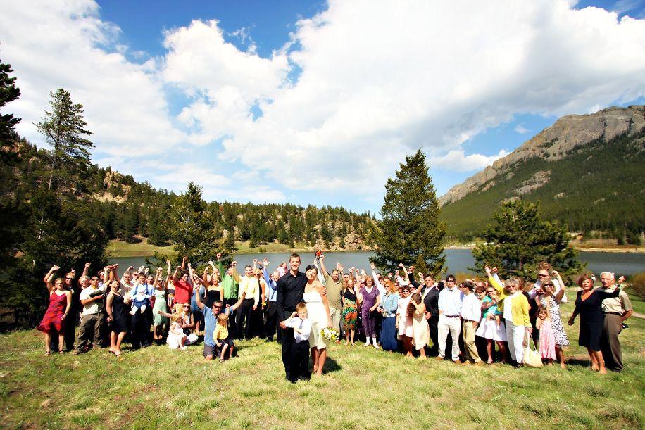 Wedding Ceremony At Lily Lake Estes Park Colorado
