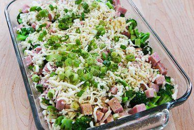 Recette pour Brocoli, Cham et mozzarella au four avec des œufs (Low-Carb, Sans gluten) [from KalynsKitchen.com]