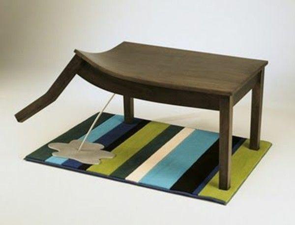 Optical Illusion Stairs Fun Coffee Table
