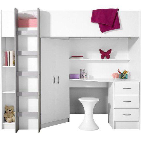lit mezzanine avec plan de travail chambre filles lit. Black Bedroom Furniture Sets. Home Design Ideas