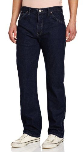 Mens Work Heavy Duty Denim Jeans Gents Straight Leg Jeans Pants All Waist /& Size