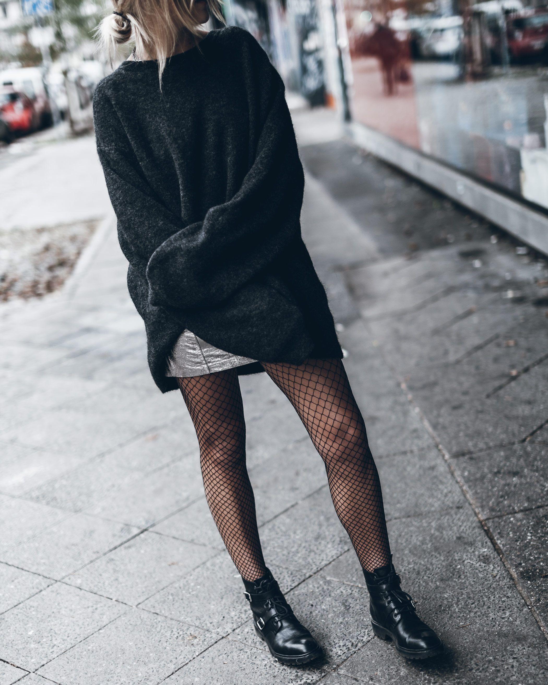Mikutafishnetcoffee Fashion edgy Pinterest Fishnet