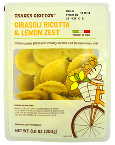 Trader Giotto S Joe S Girasoli Ricotta Lemon Zest Trader Joes Trader Joes Recipes Lemon Zest