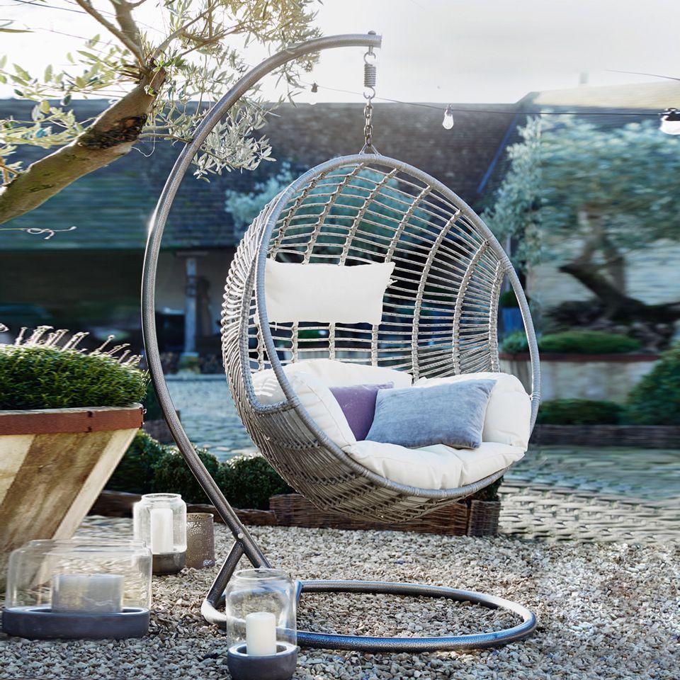 With metal stand hot sale indoor outdoor patio rattan