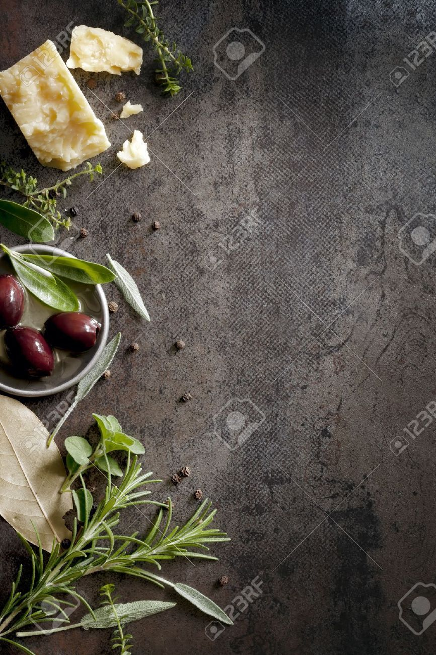 Black Slate Background For Food Photography