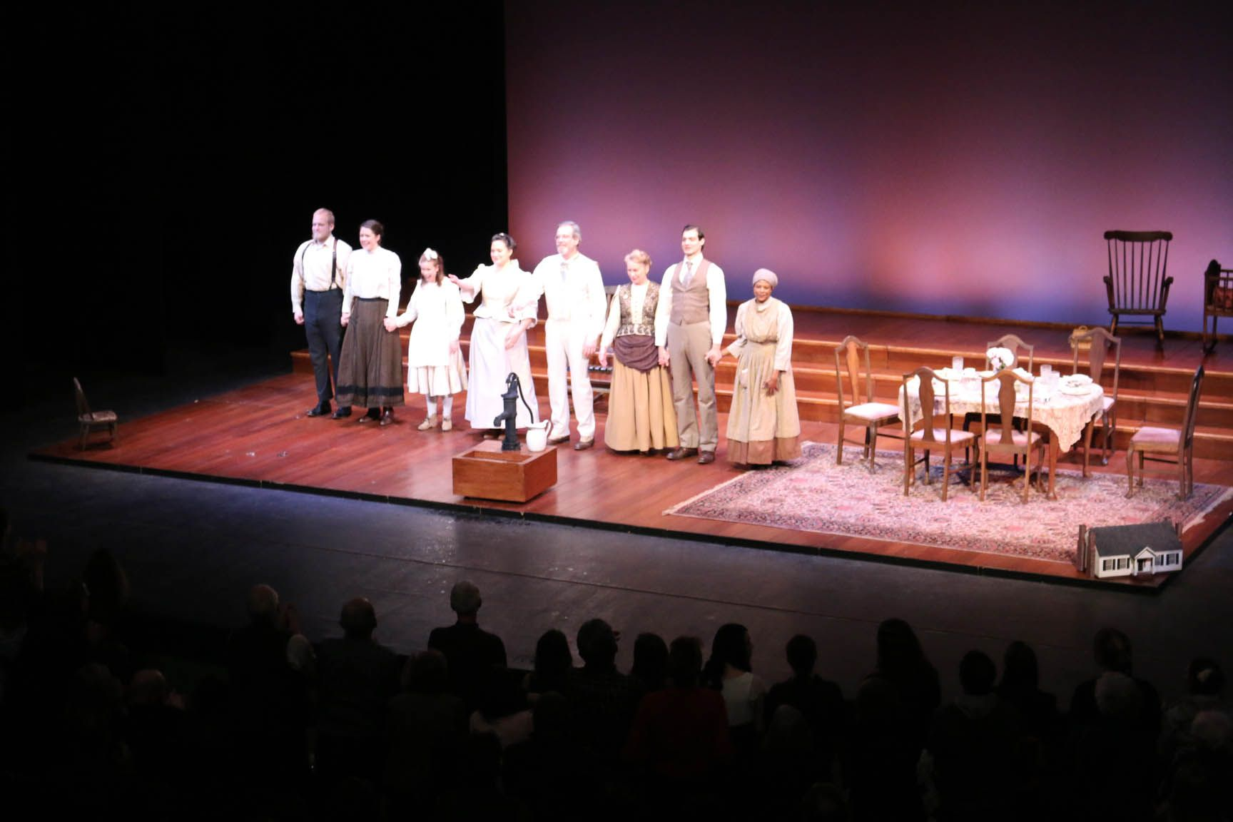 The Miracle Worker Cast Of Montana Repertory Theater Receives A Standing Ovation On Feb 11 2014 The Miracle Worker It Cast Good Times