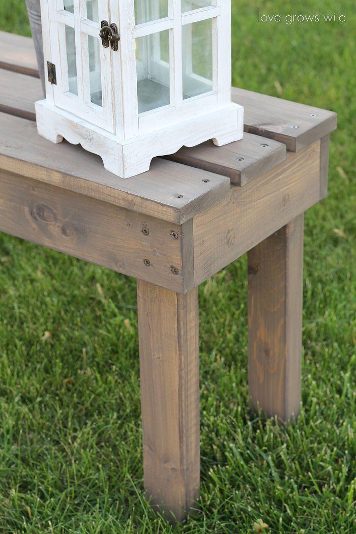Easy DIY Outdoor Bench Diy bench, Diy wood projects