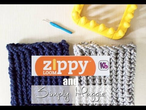 How to Loom Knit a Cowl in 30 Minutes Using Zippy Loom - Simply Maggie - YouTube