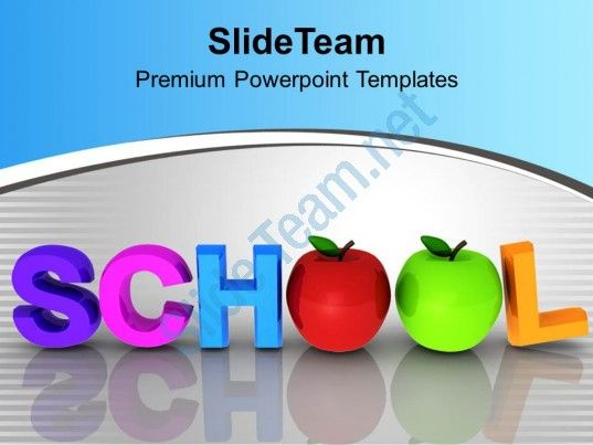 word school with apples education powerpoint templates ppt themes