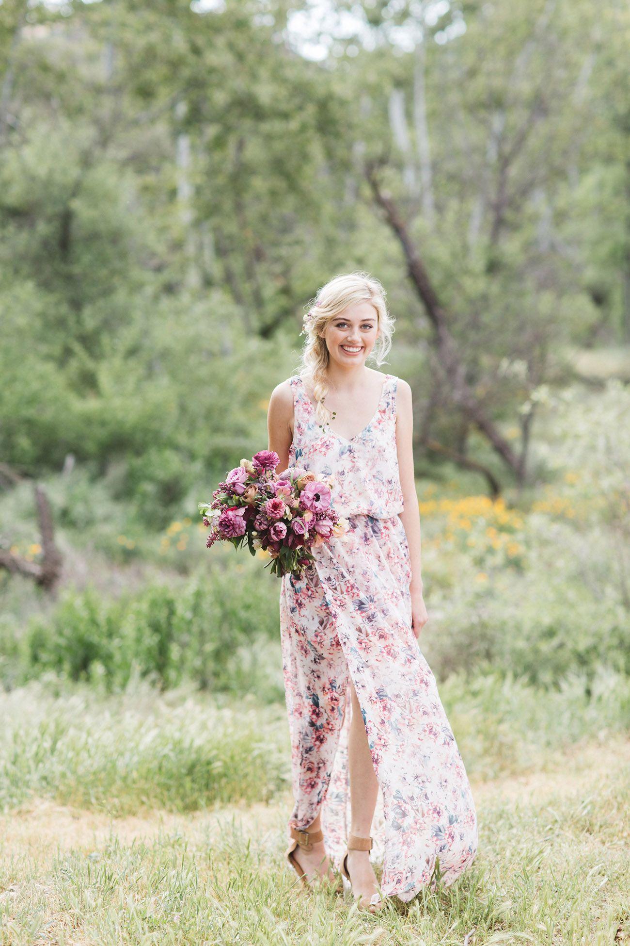 20e8d2fdfce4 Gorgeous Floral Print Bridesmaid Dresses for Wedding. GWSxMumu Kendall Maxi  Dress. Show Me Your Mumu ...