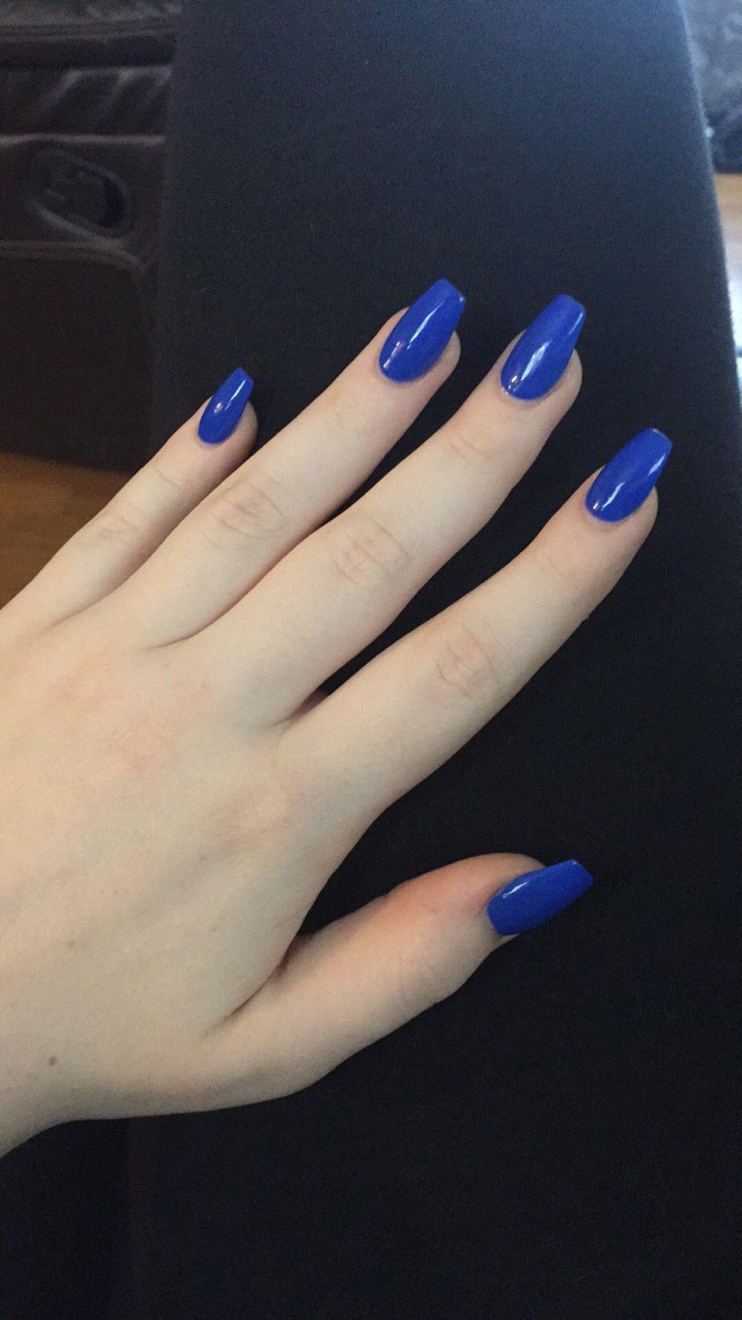 Royal Blue Coffins Royal Blue Nails Blue Acrylic Nails Blue Nails
