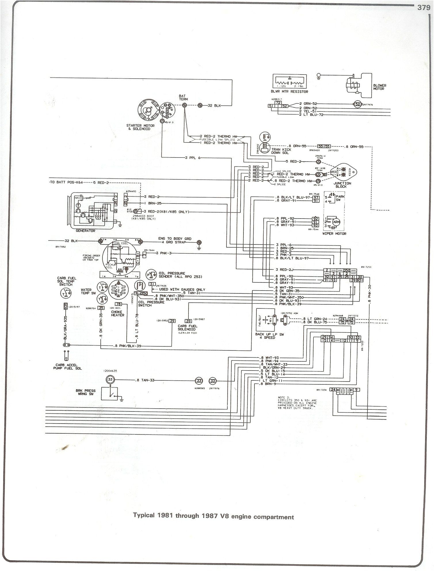 85 Chevy Truck Wiring Diagram Http Www 73 87chevytrucks Com Tech V8 Engine Jpg Chevy Trucks 1979 Chevy Truck Truck Engine