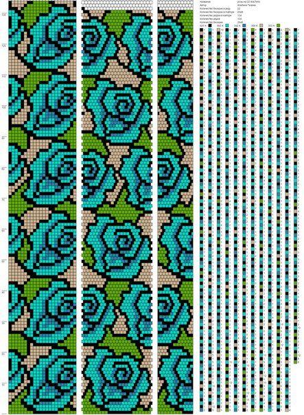 Схемы жгутов от Альбины Тезиной АльТеКо | Bead Crochet Patterns ...