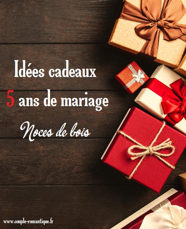 5 Ans De Mariage Idée Cadeau Épinglé sur Amour et romantisme